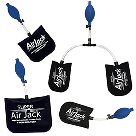 Purchasing all 4 Air Jack air wedges together saves money and ensures you always the right tool for the job.
