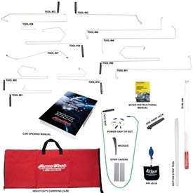 The best value of any complete locksmith set we sell, the Value Set comes with the most popular in-the-door tools, the car opening manual, and enough accessories to open virtually every popular vehicle on the road.