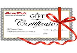 An excellent gift for any special occasion, a Gift Certificate allows an individual to pick out whichever tool they may need.
