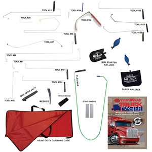 If you only ever work on Commercial Trucks, Heavy Duty vehicles, and 18 wheelers, then this kit was designed for you. Including only the tools needed to access these vehicles, and a Truck Opening Manual unlike any other in the industry.