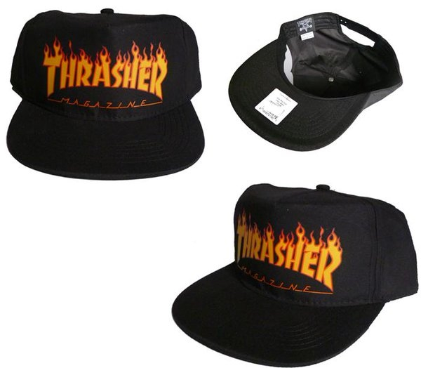 This snapback cap features a printed Thrasher flame logo ... 6c3750c1be3