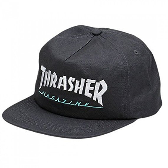 93702a846 THRASHER MAG LOGO TWO TONE SNAPBACK CAP GREY