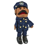 Policeman Police Officer Sheriff Black Puppet