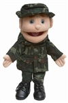 Army Boy w/ Blue Eyes Puppet