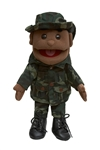 Army Boy Black Puppet