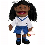 "Cheerleader Puppet, Black (14"")"
