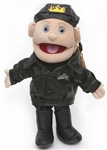 Biker Girl w/ Brown Hair Puppet