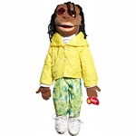 "Sculpted Black Girl 28"" Puppets"