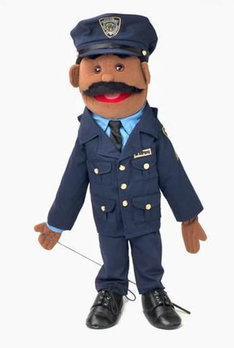 Black Police Officer Puppet