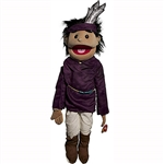 "American Indian Boy Puppet (28"") (Purple Shirt)"