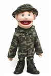 "Army Boy Puppet,  Blue Eyes (28"")"