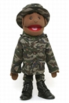 Black Army Boy Puppet