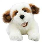 Brown and White Dog Puppet