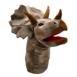 Triceratops Dinosaur Large Head Puppet
