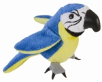 Blue and Gold Macaw Finger Puppet