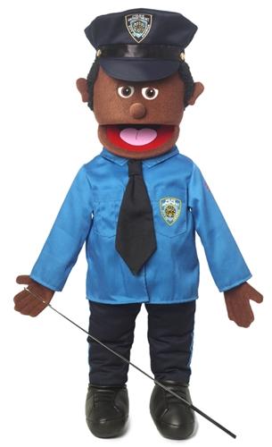 Policeman Black Full Body Puppet