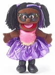Black Superhero Girl Hand Puppet