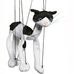 Black & White Cat Marionette Small