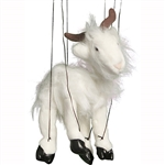 White Goat Marionette Small