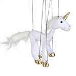White Unicorn Marionette Small