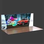 20ft. Trapezoidal Lumiwall LED Backlit Display Kit with Printed SEG Fabric and (3) Shipping Cases