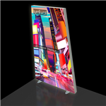 3x8 Trapezoidal Lumiwall LED Backlit Display with Printed SEG Fabric and Shipping Case