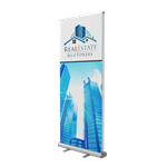 Retractable Double Sided Bannerstand 2 33.5""