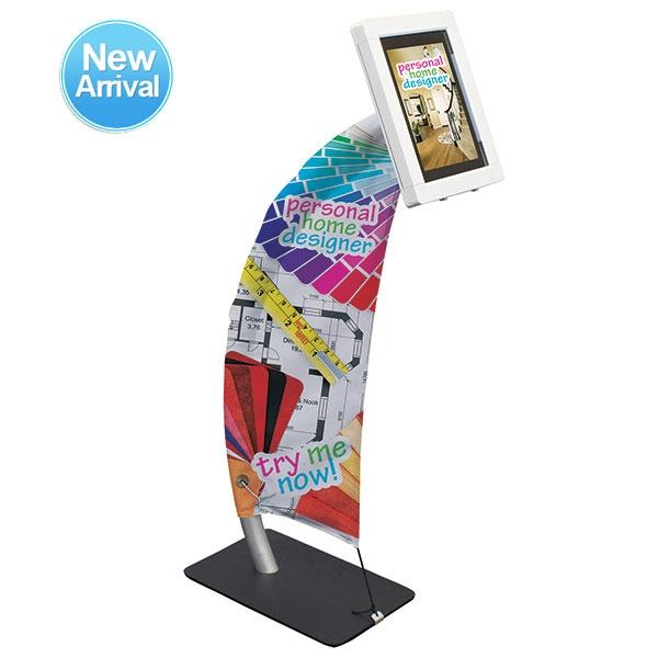 Expo Stands Kioska : Trade show kiosk: sail ipad fabric banner stand exhibitdeal