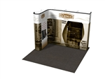 10ft Straight corner Custom Pop Up Display