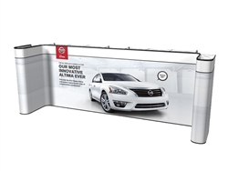 20ft Straight Custom Pop Up Display