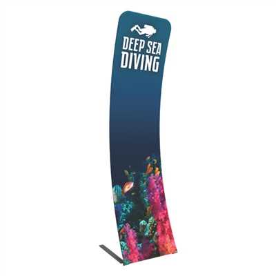 "23.62"" Formulate Curved Double Sided Fabric Banner Stand"