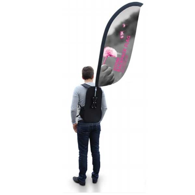 Zoom Banner Outdoor Portable Flag Backpack