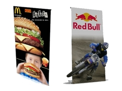 Large Standard PUNTO Banner Stand with Graphic
