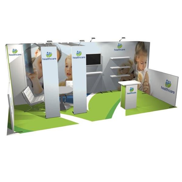 Modular Exhibition Stands Zero : Modular displays ft panoramic h line adaptable