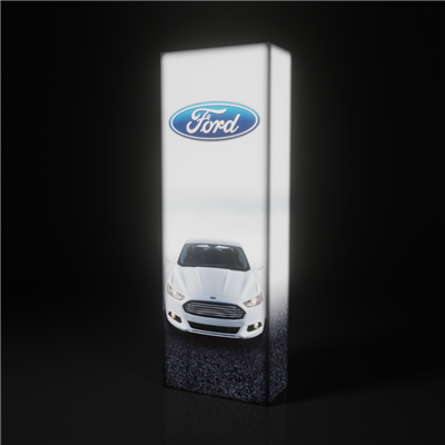 2.5ft SEG backlit pop up display