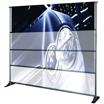 "96""W Adjustable Large Format Banner Stand"