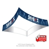 "12'W x 60""H Curved Square Hanging Banner Sign"