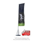 Mondo OUTDOOR Rectangle Banner Flag Stand - 23ft