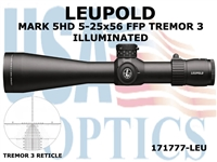 LEUPOLD MARK 5HD 5-25-56 FFP TREMOR 3 ILLUMINATED RETICLE
