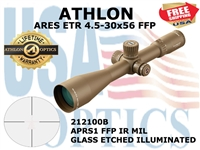 ATHLON ARES ETR 4.5-30x56 APRS1 FFP IR MIL ILLUMINATED - BROWN
