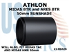 ATHLON MIDAS BTR and ARES BTR 50mm RIFLESCOPE SUNSHADE - BLACK