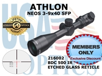 ATHLON NEOS 3-9x40 BDC 500 IR SFP ILLUMINATED