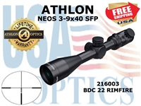 ATHLON NEOS 3-9x40 BDC 22 RIMFIRE ILLUMINATED