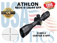 ATHLON NEOS 6-18x44 CENTER X SFP