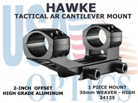 HAWKE TACTICAL AR CANTILEVER MOUNT 30mm 1 PIECE WEAVER MOUNT - HIGH