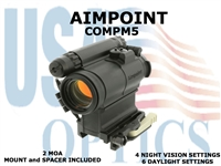 AIMPOINT COMPM5 2 MOA W/LRP and 39mm SPACER