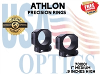 "ATHLON PRECISION RINGS 1"" MED .9 INCHES HIGH"