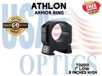 "ATHLON ARMOR 1"" LOW HEIGHT (0.9"") SCOPE RING"
