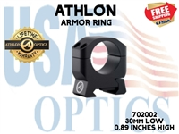 "ATHLON ARMOR 30mm LOW HEIGHT (0.89"") SCOPE RING"