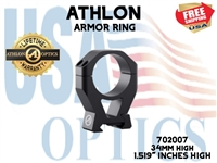 "ATHLON ARMOR 34mm HIGH HEIGHT (1.519"") SCOPE RING"